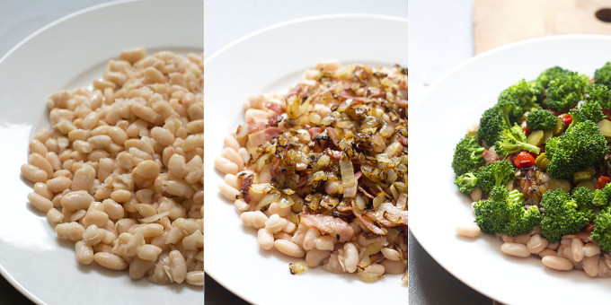 ensalada templada de alubias y brocoli 3