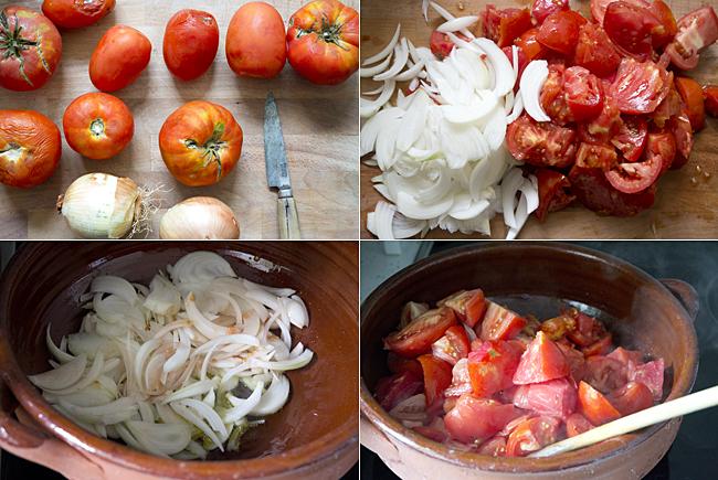 salsa de tomate casera paso 1