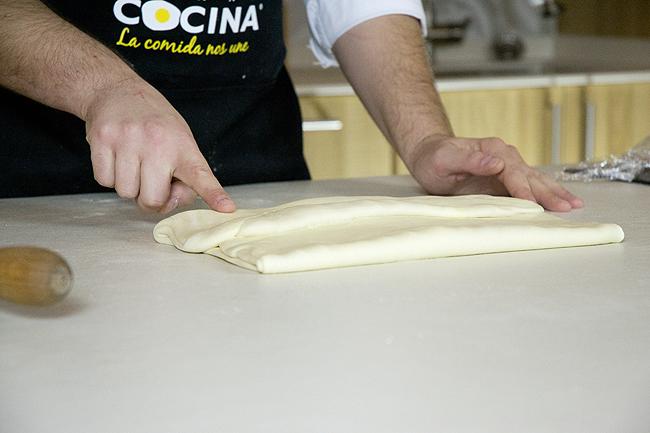 croissants marcado del pliegue