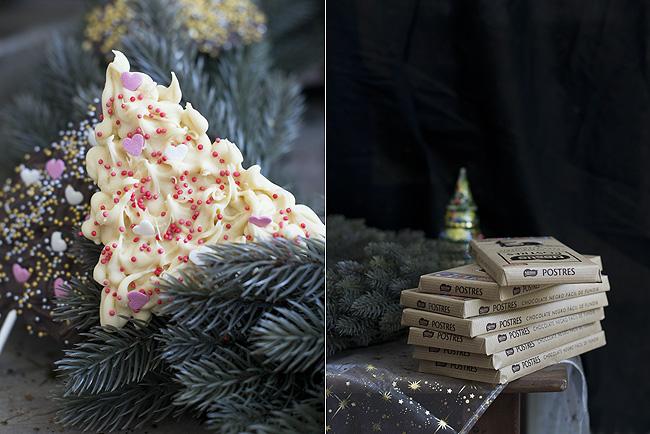 arboles de navidad de chocolate