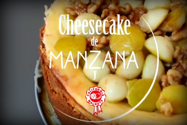 Cheesecake de manzana y nueces