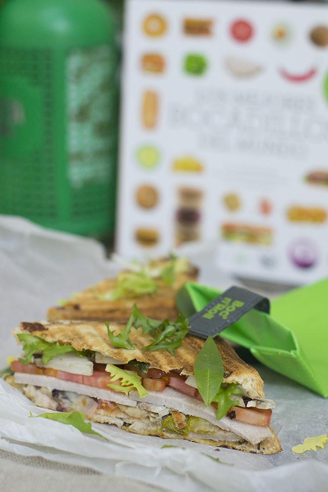sandwich de lomo asado y champiñones