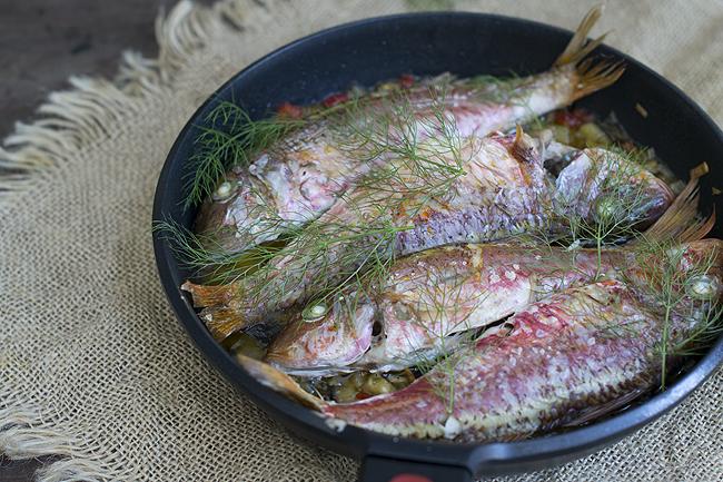 salmonetes con verduras H