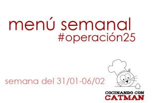 menu semanal #operación25