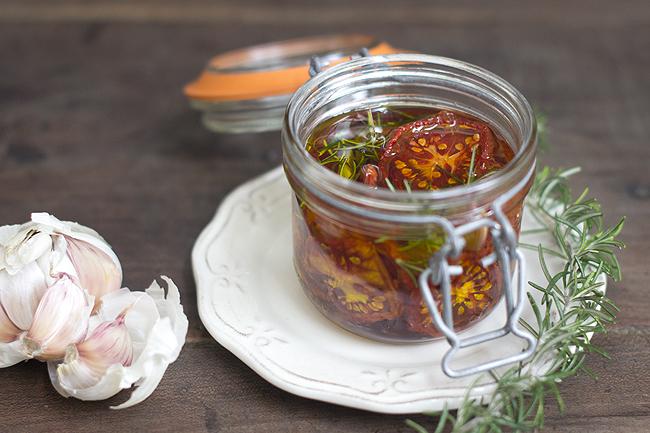 tomate seco en aceite aromatizado