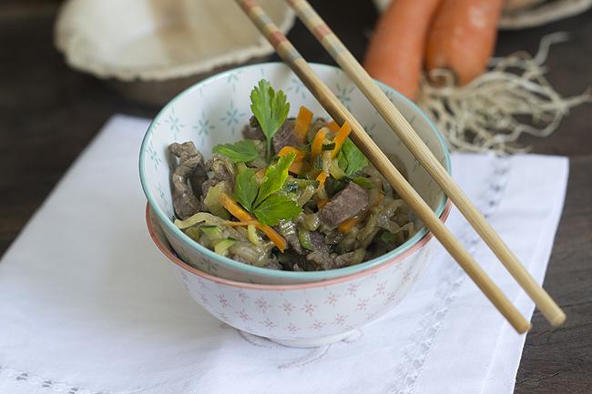 wok de verduras y ternera H