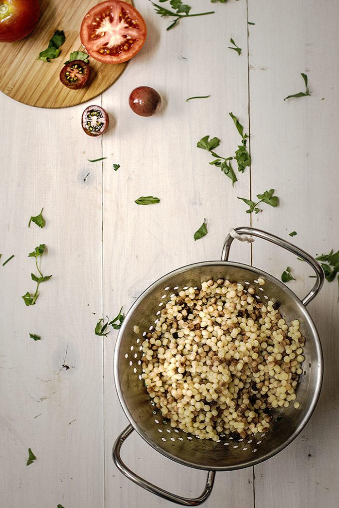 fregola sarda con almejas