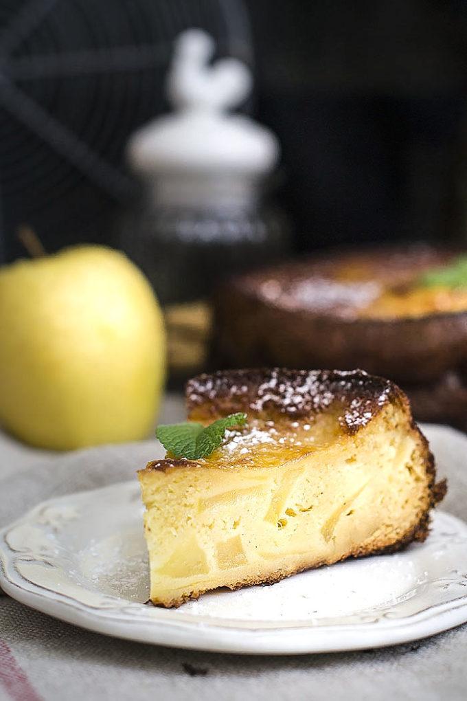 pastel de manzana y canela P