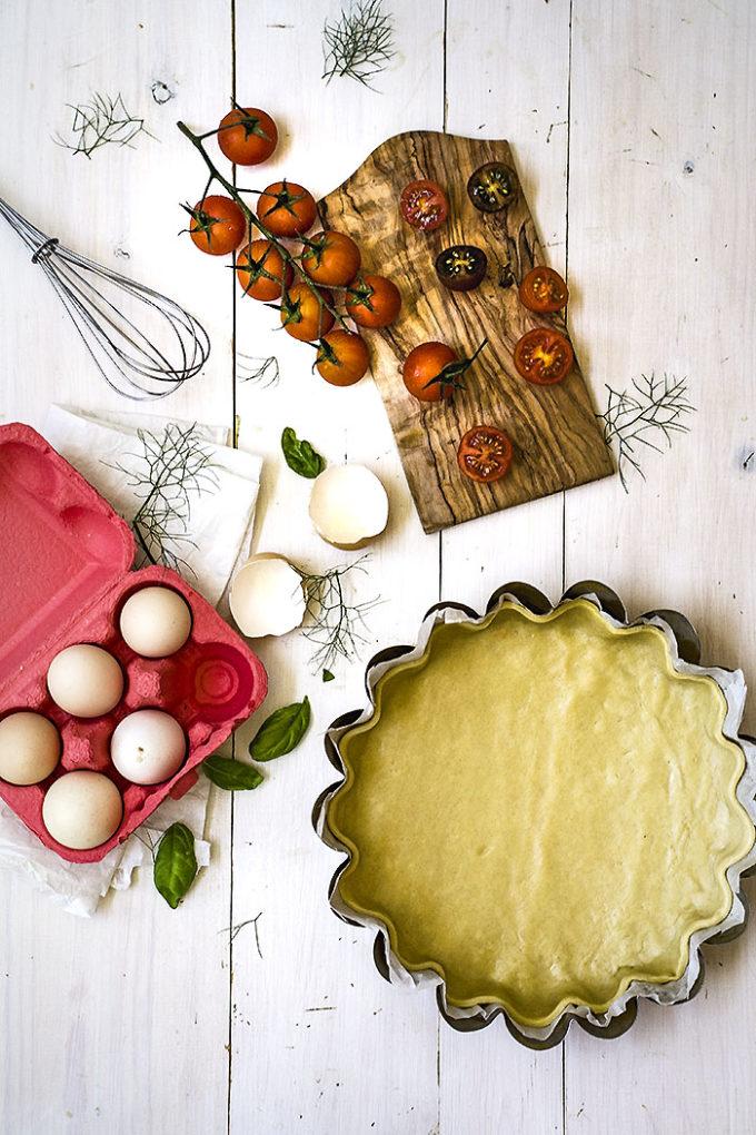 tarta de tomate y mostaza paso 1