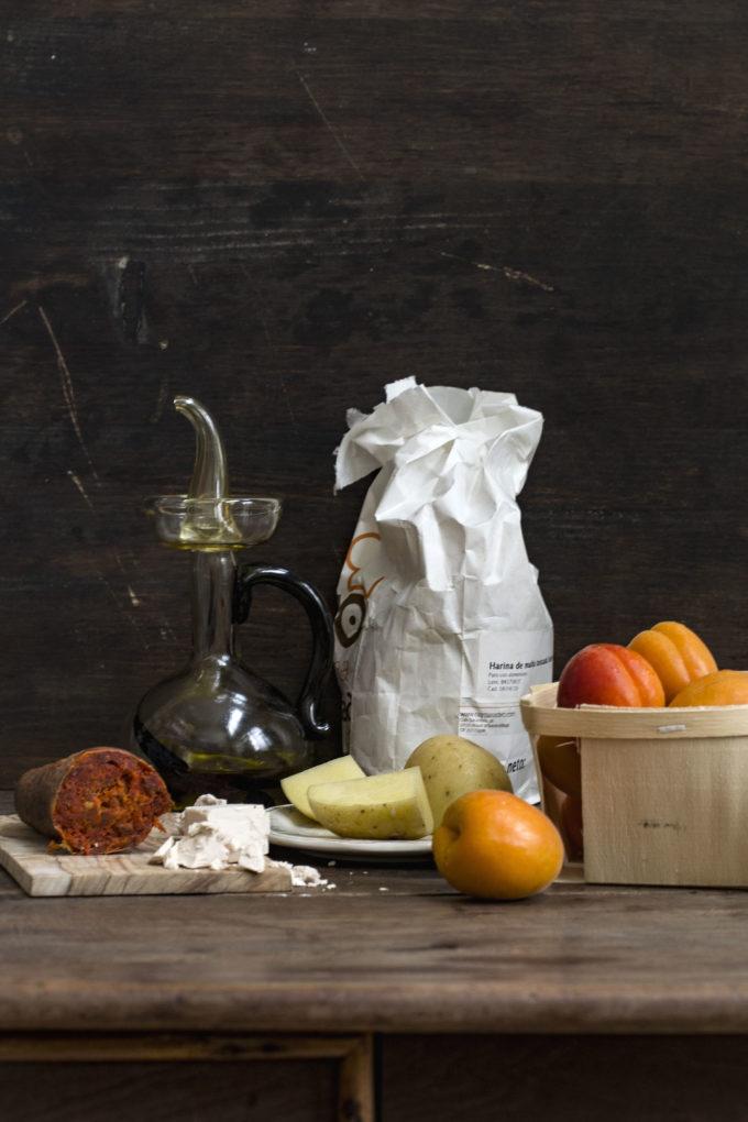 coca de albaricoques ingredientes