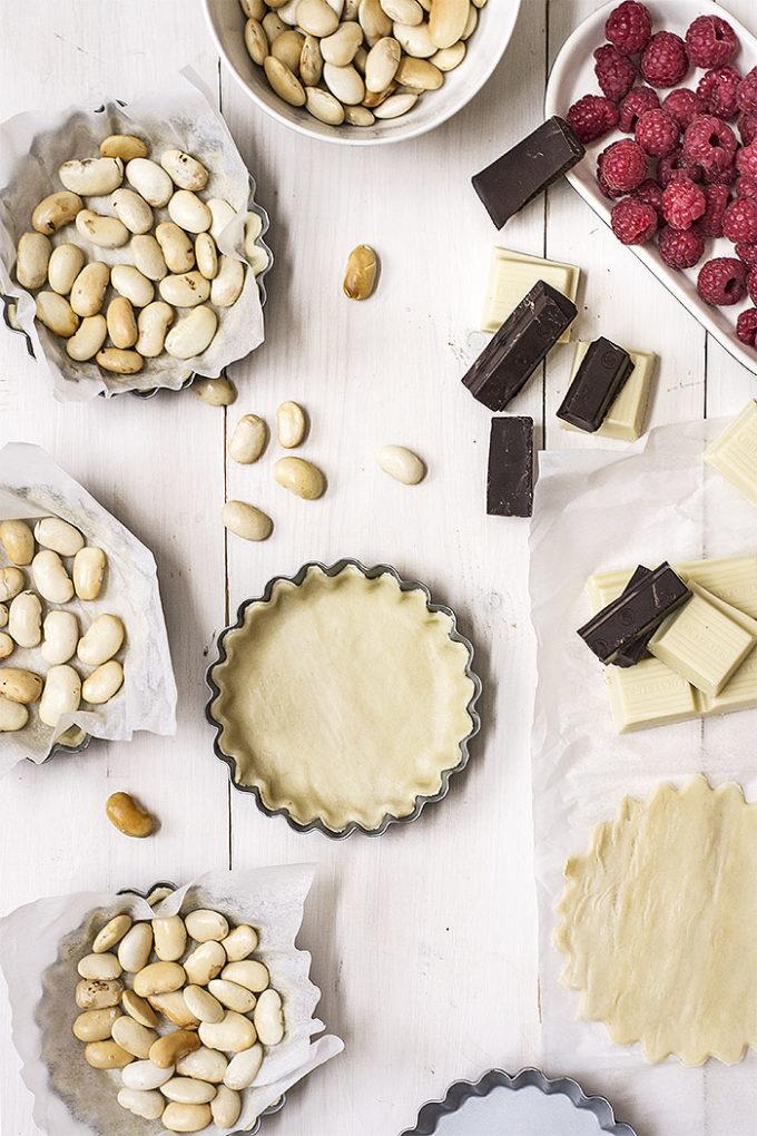 tartaletas de chocolate y caramelo salado