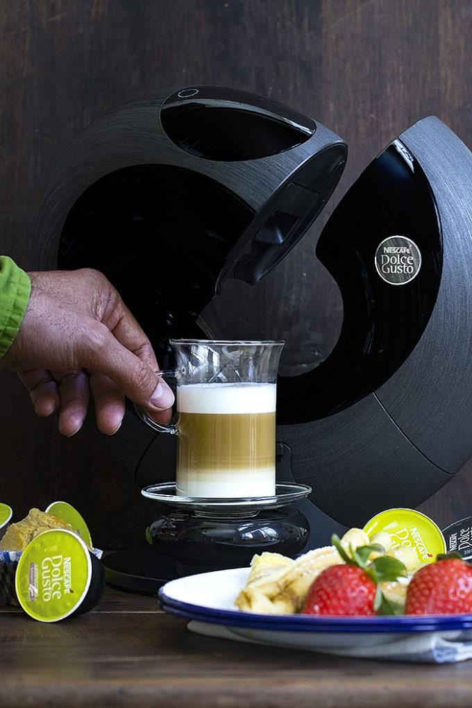 crêpes de café con leche