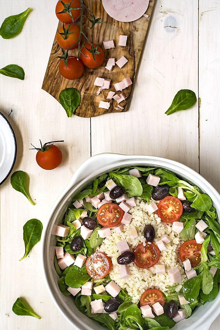 Ensalada de mijo y tomate